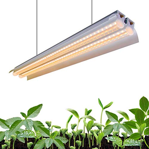 Monios-L T5 LED Grow Light, 2FT Full Spectrum Sunlight Replacement, 30W High Output Integrated Fixture with Rope Hanger for Indoor Plants, Hydroponics, Seedling, Growing, Blooming