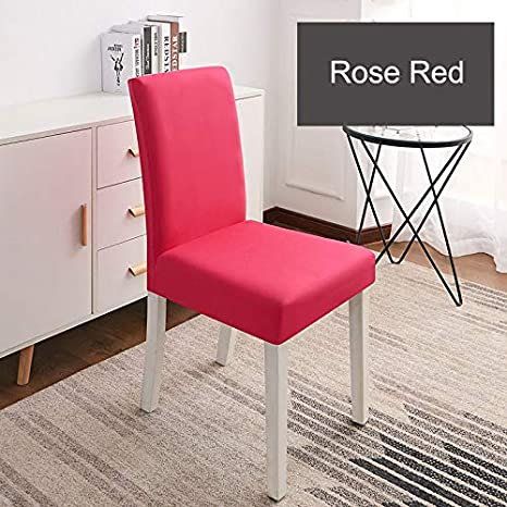 Astonishing Amazon Com Solid Color Chair Cover Spandex Stretch Elastic Theyellowbook Wood Chair Design Ideas Theyellowbookinfo