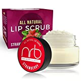 NRB Beauty Revival Lip Scrub - All Natural Sugar Based - Exfoliating & Moisturizes Chapped Dry Lips - 0.5 oz Each - Made In The USA - Strawberry