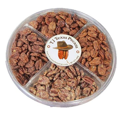 Tj Texas Pecans Spicy N Sweet Pecan 4 Flavor Variety Nut Gift Pack