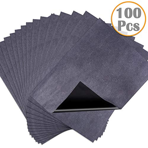 Carbon Paper, Anezus 100 Sheets Graphite Paper Carbon Paper Graphite Transfer Paper for Tracing, Painting, Wood Projects