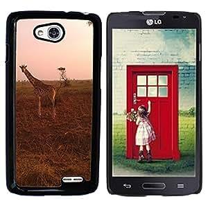 Hot Style Cell Phone PC Hard Case Cover // M00110976 Giraffe Safari Uganda Savanna Wild // LG Optimus L90 D415