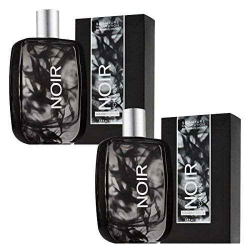 2 Pack Bath and Body Works Noir Eau De Toilette Set Includes Two 3.4 Ounce EDT Cologne Spray For Men