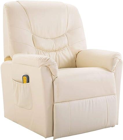 Vidaxl Massagesessel Fernsehsessel Relaxsessel Massage Heizung Tv Sessel Creme Amazon De Kuche Haushalt