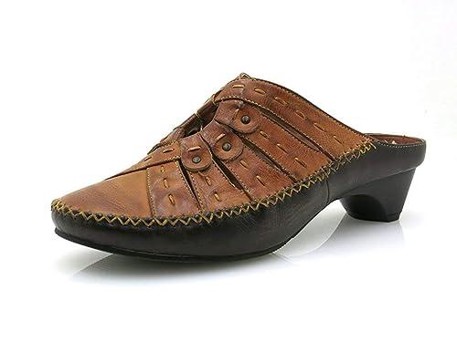 pas mal b15d1 178b9 Stone Walk joli Sabot Mule Chaussures Pour Femmes Mocassin Style 3622 marron