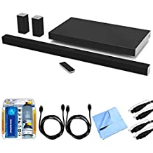 """Vizio SB4051-D5 SmartCast 40"""" 5.1 Sound Bar System w/ Essential Accessory Bundle includes Sound Bar, 2 x 6' Optical Toslink OD Audio Cables, 2 x 6' HDMI Cables, Cleaning Kit and Microfiber Cloth"""