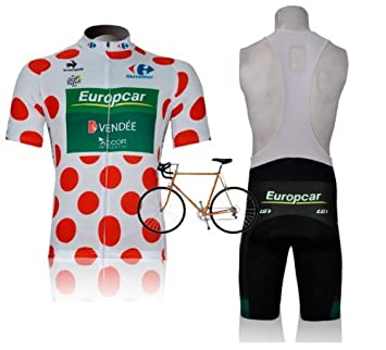 New Spring Replica Europcar Cycling Jersey Set Bib Short Sleeved