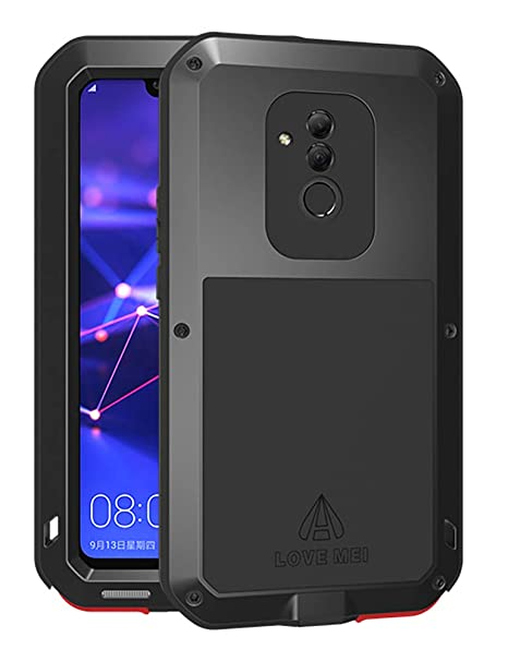 Huawei Mate20 Lite Case, Love mei Full Body Outdoor Shockproof Heavy Duty Hybrid Aluminum Metal Armor Dirtproof Snowproof Cover Shell for Huawei ...