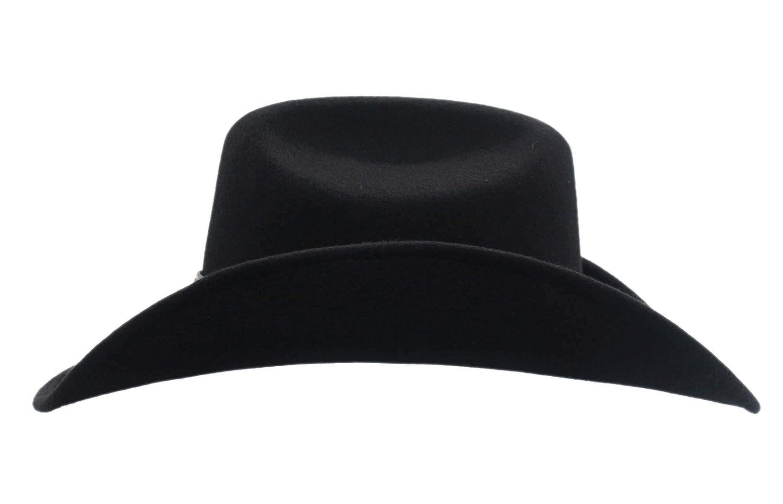 Shapeable Cattleman Cowboy Western Wool Hat Black Silver Canyon