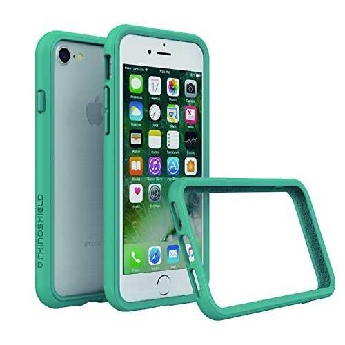 RhinoShield Bumper Case iPhone 8 / iPhone 7 [NOT Plus] | [CrashGuard] | Shock Absorbent Slim Design Protective Cover [3.5 M / 11ft Drop Protection] - Teal Blue
