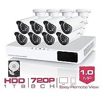 GOWE 8CH CCTV System 720P HDMI AHD 8CH CCTV DVR 1TB HDD 8 1.0 MP IR Security Camera 1200 TVL CCTV Camera Surveillance System