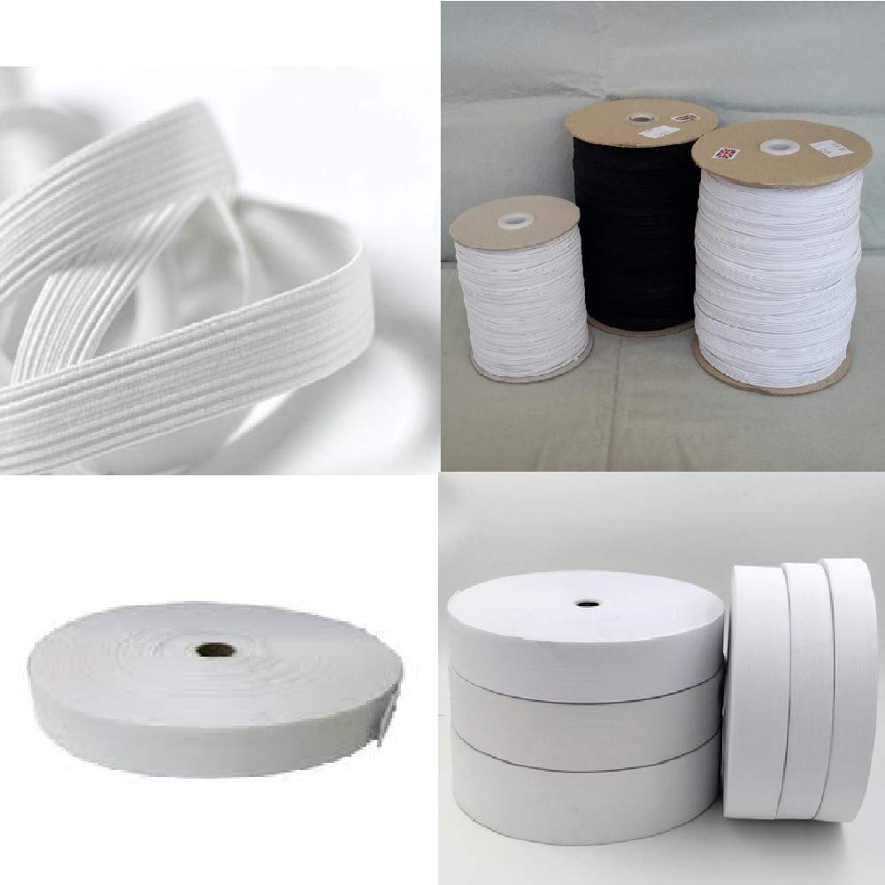nero elastico piatto 5/metre roll 20/mm Top Quality 3//10,2/cm