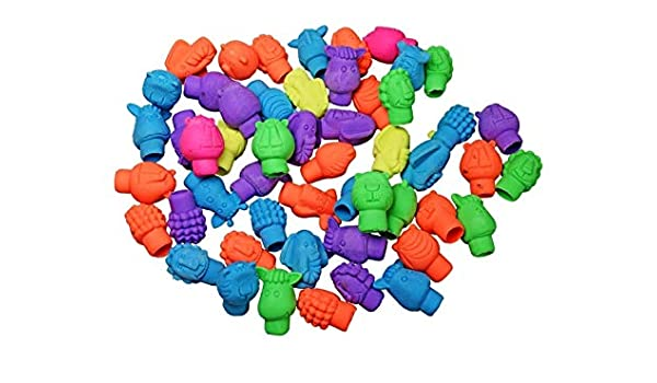 144pk Zoo Animal Erasers Pencil Toppers Party Favors School Supplies BULK