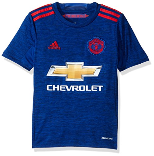 Adidas Boys Kit (Adidas Soccer Manchester United Youth jersey, Medium, Collegiate)