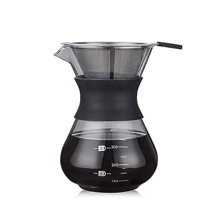 Gesteam Cafetera con Filtro Cafetera de Vidrio Reutilizable ...