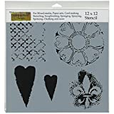 CRAFTERS WORKSHOP Template, 12 by 12-Inch, Gothic Romance