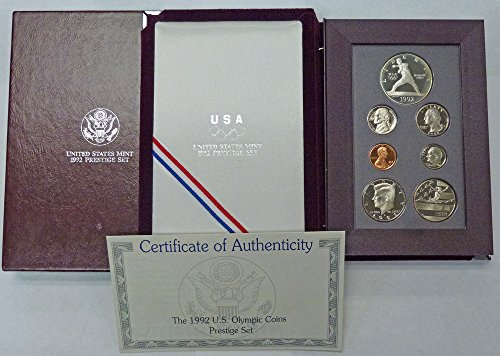 1992 S Prestige Proof Set 1992 Olympic Silver Dollar OGP