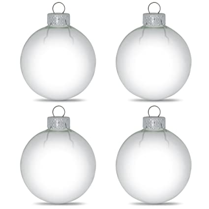clear glass christmas ornaments