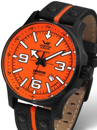 Vostok-Europe Expedition North Pole Automatic Watch with Brilliant Orange Dial 5954197