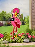 Evergreen Flamingo Lighted Outdoor Safe Fabric Garden Stake, 36 inches
