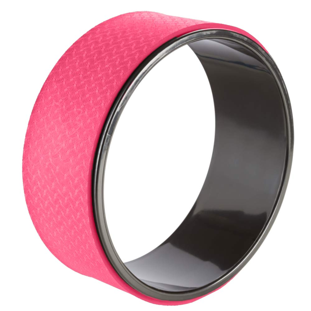 FEET UP Yoga Wheel | Pink | Stretching Roller | Back Pain Reliever | Stretcher Ring | 10 Inch