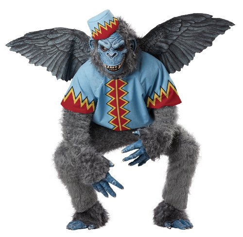 California Costumes Men's Evil Winged Monkey Adult, Grey/Blue, (Mens Monkey Costume)