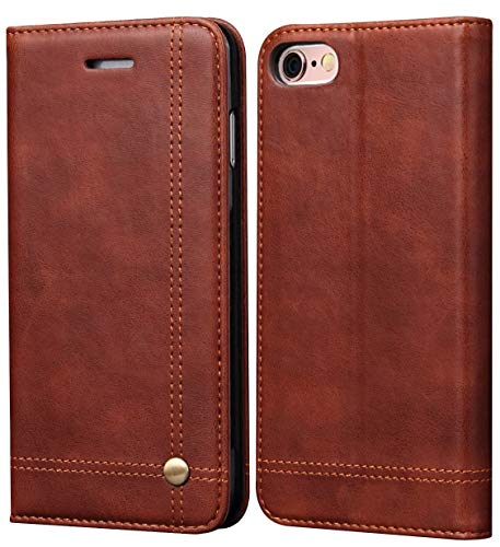 iPhone 6S Plus Case iphone 6 Plus Case, SINIANL Leather Wallet Case Magnetic Closure With Kikstand & Card Slot Flip Cover