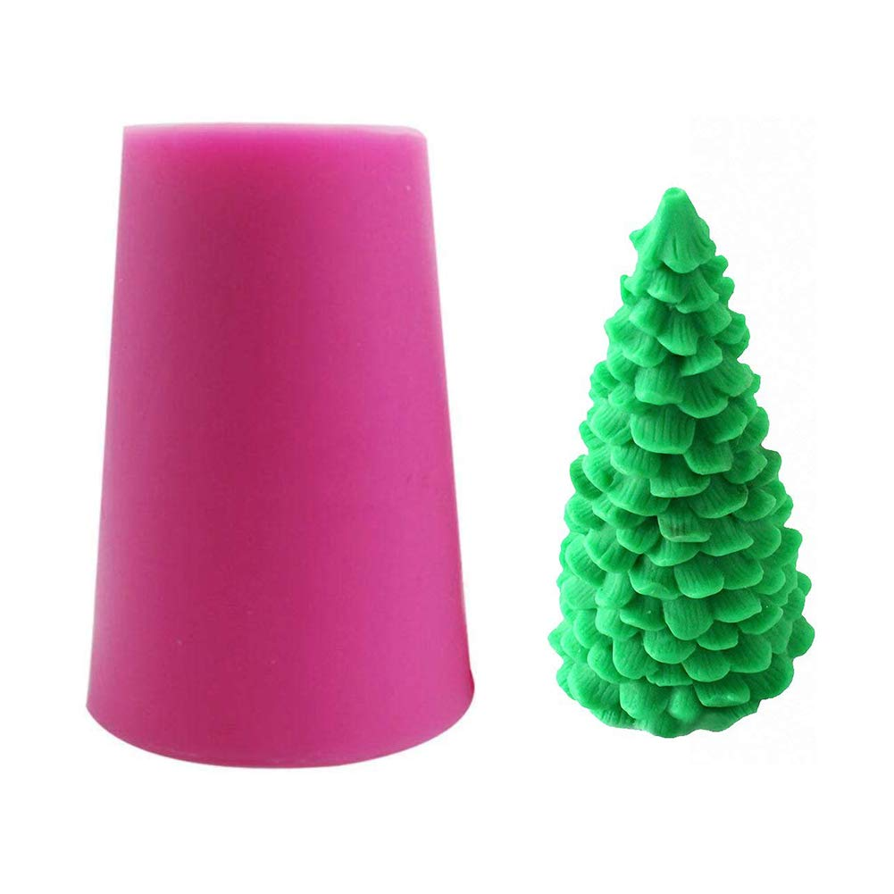 Polymer Clay Christmas Tree.Fewo 3d Christmas Tree Silicone Mold For Fondant Chocolate Candy Cake Decorating Candle Soap Lotion Bar Wax Crayon Melt Plaster Polymer Clay Xmas