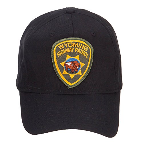 E4hats Wyoming Highway Patrol Patched Cap - Black (Highway Patrol Hats)