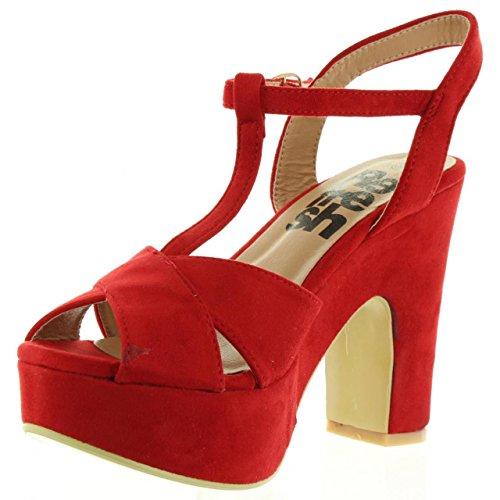 Sandalias de Mujer REFRESH 63603 ANTELINA ROJO