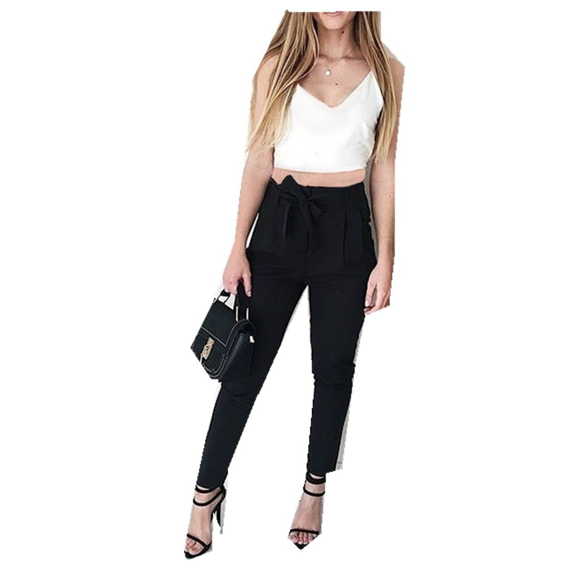 MV Women Casual Pants Two-Piece European American New Camisole Trousers