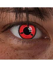 aricona Kontaktlinsen - Sharingan contactlenzen Sharingan Naruto - Gekleurde contactlenzen zonder sterkte voor cosplay, carnaval, themafeestjes en Halloweenkostuums, 2 stuks