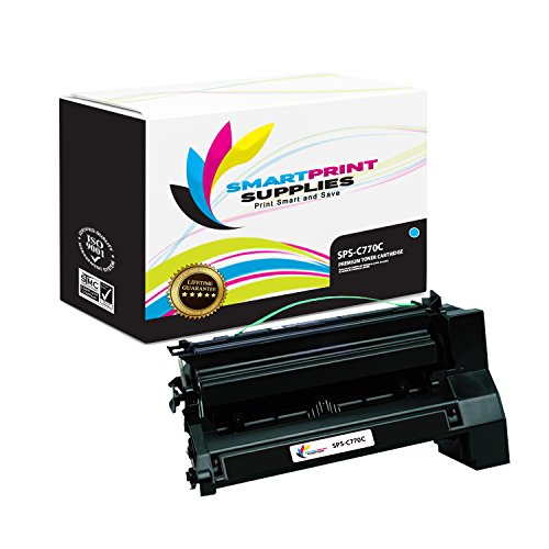 (Smart Print Supplies Compatible C770 C7702CH C780H2CG Cyan Extra High Yield Toner Cartridge Replacement for Lexmark C770 C772 C780 C782 X780 X782 Printers (10,000 Pages))