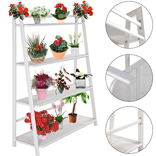 Display Holder Garden-Heavy Duty Mesh Plant Flower Stand Shelves Pot