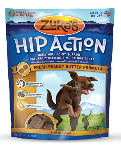 Zuke's Hip Action Fresh Peanut Butter Recipe Dog Treats - 6 oz. Pouch