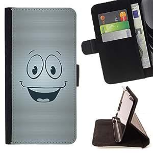 - Happy Smiley Face/ Personalizada del estilo del dise???¡¯???¡Ào de la PU Caso de encargo del cuero del tir???¡¯????n del s - Cao - For Samsung Galaxy S4