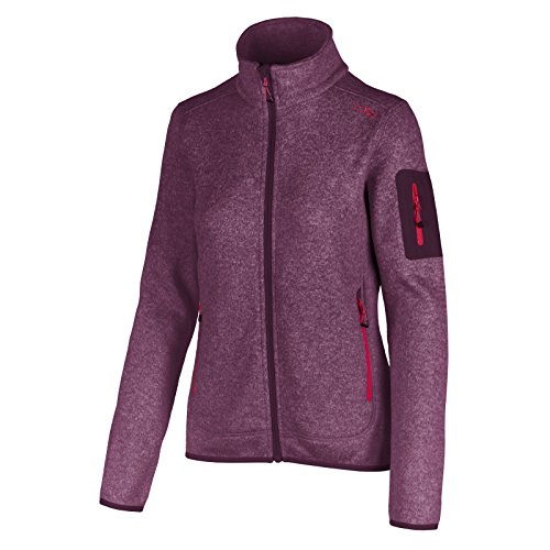 Sangria Rosa Pile Viola Jacke Fleece in Donna CMP Giacca xSAn0qwSR