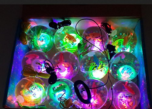 LTDD Fun Colorful Flash Jumping Ball Luminous Crystal Elastic Ball Toys