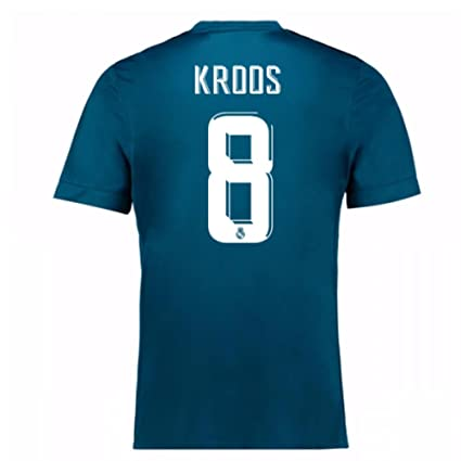 5453b8250 Image Unavailable. Image not available for. Color  2017-18 Real Madrid  Third Football Soccer T-Shirt Jersey ...
