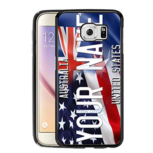 (BRGiftShop Personalize Your Own Mixed USA and Australia Flag Rubber Phone Case For Samsung Galaxy S7)