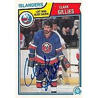 $27 » Autograph Warehouse 619855 Clark Gillies Autographed Hockey Card - New York Islanders - 1983 O-Pee-Chee No.6