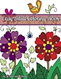 Easy Adult Coloring Book: Large Print Designs