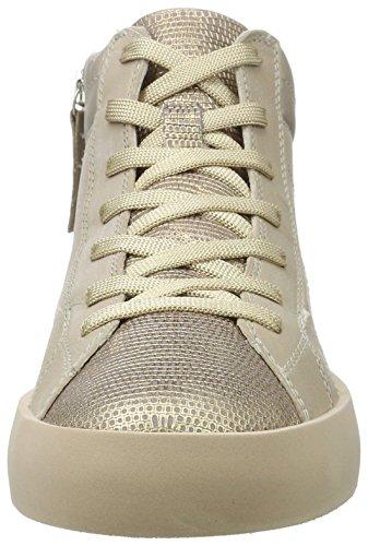 CRIME London Damen Hoxton Hohe Sneaker Beige (Nude)