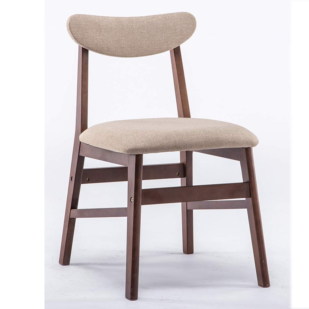 Lrzs furniture solid wood dining chair home modern minimalist restaurant dining table and chair desk chair leisure stool back nordic chair adult color
