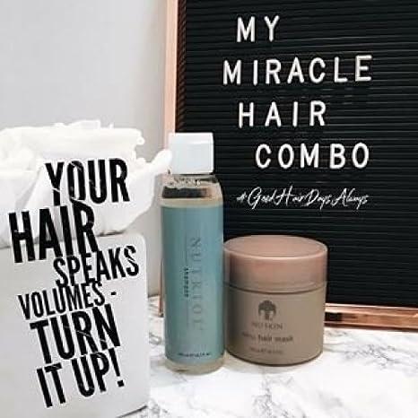 Nu Skin Renu - Máscara de pelo + champú Nutriol para ahorro de dinero con tratamiento de fitness para el cabello: Amazon.es: Belleza