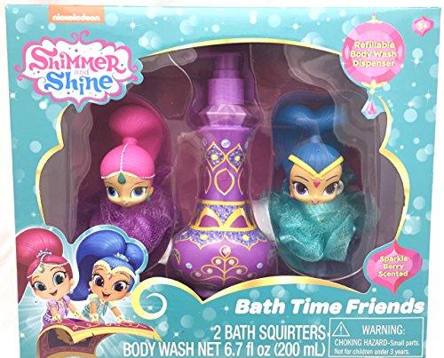 shimmer-shine-bath-time-friends-gift-set-2-bath-squirters-with-67oz-refillable-bath-soap-dispenser