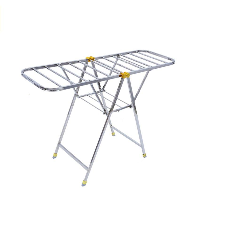 フロア折り畳み式衣類ラック、バルコニー屋内および屋外乾燥ラック、翼形部、ステンレススチール、折り畳み式収納 (サイズ さいず : 137 * 46 * 96CM) B07HDPRPX1  137*46*96CM
