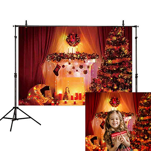 Allenjoy 7x5ft Christmas Tree Backdrop Photography Glitter Family Indoor Background Christmas Decoration Backdrops - Family Glitter