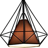 Diamond Shade Wrought Iron Chandelier – Battaa (2018 New Design) Industrial Pendant Lighting Vintage Hanging Modern Ceiling Loft Fixture Lamp for Indoor Kitchen Dining Room Bar Cafe 2-Year Warranty For Sale
