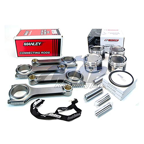 Wiseco Pistons Manley H Tuff Rods 100mm 8.9:1 2000 For Subaru WRX STi EJ25 ()